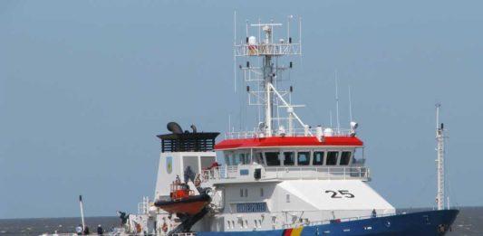 Das Polizeiboot »BP 25« der deutschen Küstenwache. Foto: Thomas Wägener