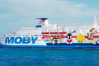 The ferry »Moby Zaza« is repowered by Wärtsilä.
