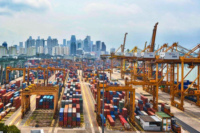 singapore port, Singapur, Umschlag