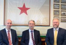 From left; Navotor Sales Director Børge Hetland, CEO and General Manager Tor A. Svanes and Richard Northover, Manager Navtor UK