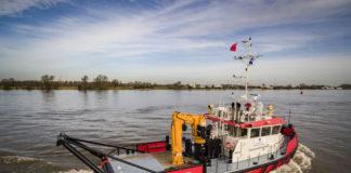 The new shoalbuster »Graham Robertsam« starts operation in Bristol