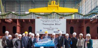Kiellegung, Meyer Werft, Norwegian Bliss, NCL