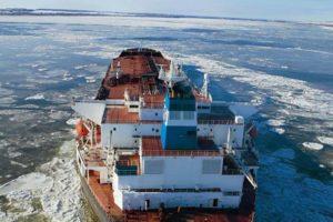 Euronav Tanker Cap Diamant in Ice