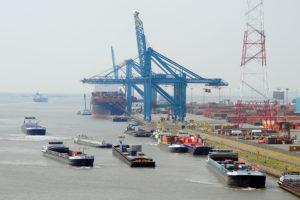 Binnenschiffe, Antwerpen, EU, Westhäfen, Kapazitätsengpässe