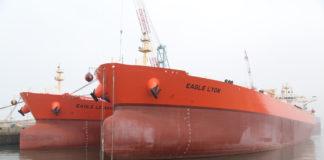 Die beiden LR2-Tanker »Eagle Lyon« und »Eagle Le Havre« von AET wurden bei HHI in Südkorea getauft