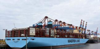 »Munich Maersk«, Hafen Hamburg