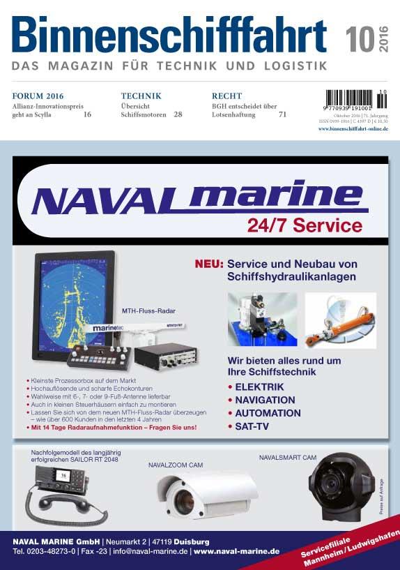 Binnenschifffahrt cover Oktober 2016
