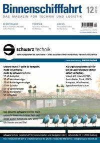 Binnenschifffahrt Ausgabe cover Dezember 2016