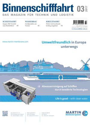 Binnenschifffahrt Magazin cover März 2017