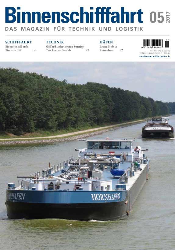 Binnenschifffahrt Magazine Cover Mai 2017