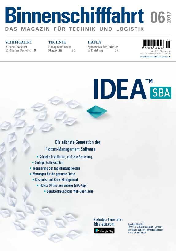 Binnenschifffahrt Magazine Cover Juni 2017