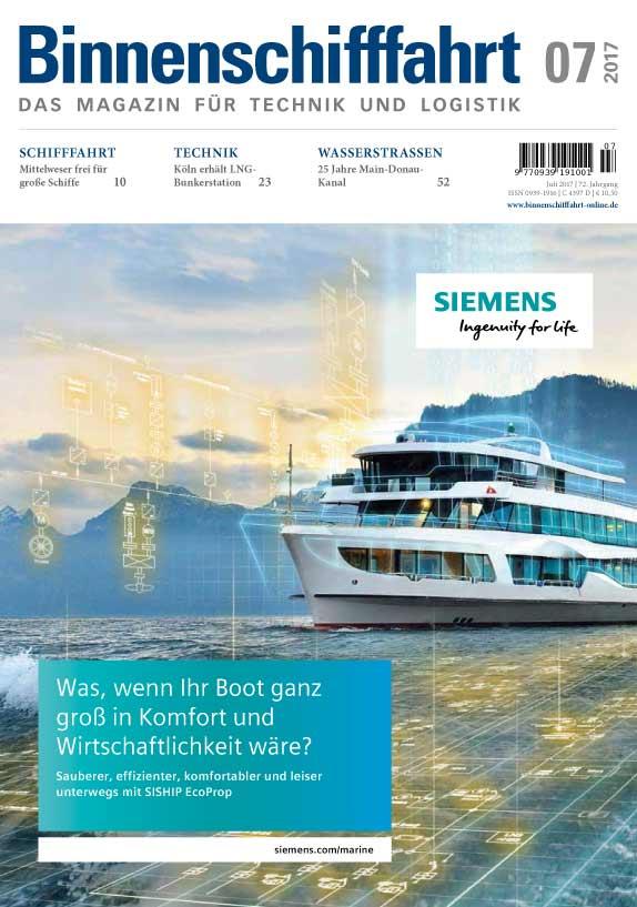 Binnenschifffahrt Cover Juli 2017