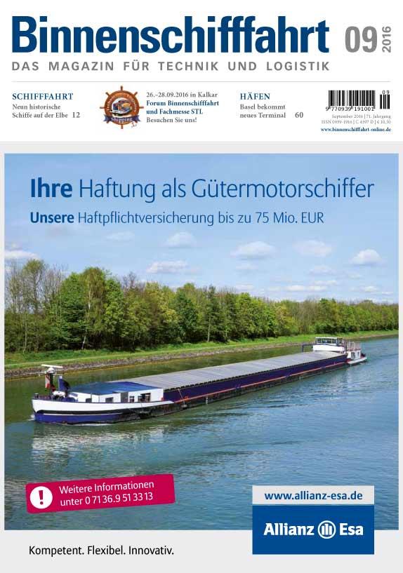 Binnenschifffahrt cover September 2016