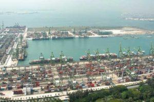 Die Containerterminals in Singapur sind die größten von PSA International