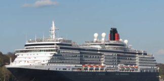 Die »Queen Victoria« der britsichen Cunard Line ist das erste Kreuzfahrtschiff im Jahr 2018 im Hamburger Hafen