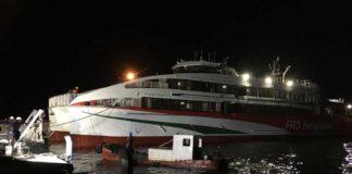 Auf den Philippinen wurde der neue Helgoland-Katamaran von FRS erstmals zu Wasser gelassen