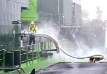 Der Hopperbagger »Scheldt River« wurde zum zweiten Mal am Elbehafen Brunsbüttel mit LNG bebunkert