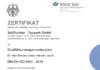 Seilflechter Tauwerk hat das Zertifikat DIN EN ISO 9001:2015 erhalten