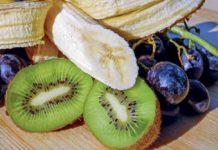 Reefer, Obst, Banane, Kiwi, Weintrauben