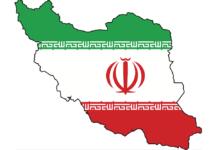 Iran map flag