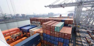 Containerschiff Umschlag
