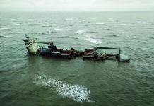ssl-kolkata aground indian coastguard