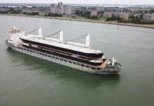 Chipolbrok, Chipolbrok Atlantic, Barge, Kasko, Binnenschiff, Decksladung, Dock-Tor