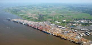 Bremerhaven, Container-Terminal, Außenweser, Vertiefung