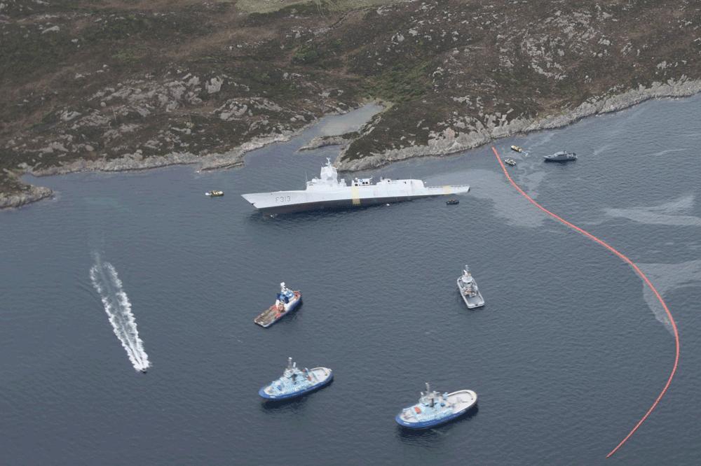 Helge Ingstad, Sola TS, Tanker, Fregatte, Kollision, Norwegen