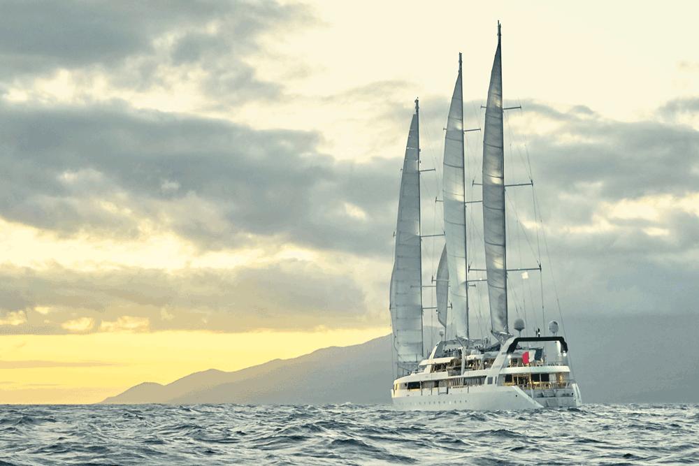 Ponant, Segel, Kreuzfahrtschiff