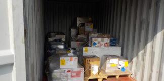 Undeklarierter Container mit Gefahrgut