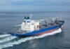 Taufe und Sea Trials der »Cool Express«, abgeliefert von Shikoku im Oktober 2018 (Foto: Cool Carriers)
