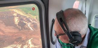 Vale-CEO Fabio Schvartsman fliegt nach dem Dammbruch über Brumadinho