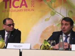Chiquita-Präsident Carlos López Flores und der Chef der Great White Fleet, Stefano Di Paolo