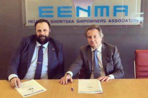 Panos Kirnidis, CEO of PISR (l.) und Charalampos Simantonis, Vorsitzender der HSSA