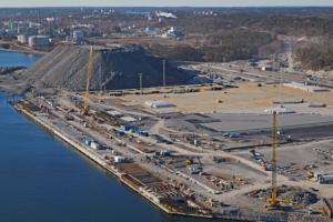 Stockholm Norvik Port progress May 2019