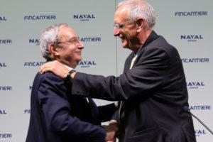 Giuseppe Bono (Fincantieri) und Hervé Guillou (Naval Group)