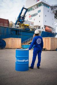 Jumbo vessel and Goodfuels barrel