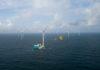 Turbine installation at North Sea wind farm Deutsche Bucht