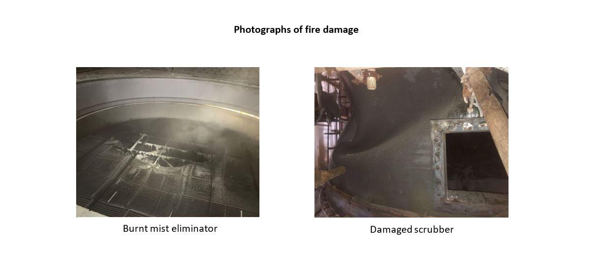 Gard scrubber damage - fire damage