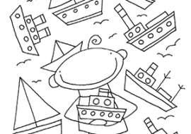 Schiffe2-Ausmaldbild